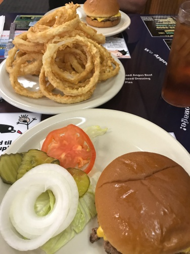 Great burger and incredibly good onion rings!