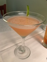 A lovely libation to start the evening - it's a Jacana - sort of a grapefruit margarita