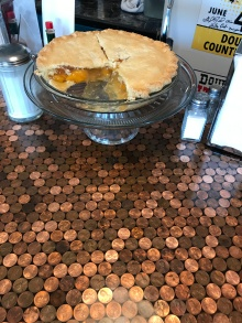 Cool copper counter, but my eyes were on the pie!