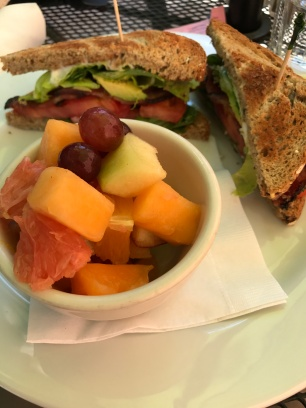 Yummy BLTA and fruit