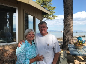 Laura and Don at their fabulous cabin on the lake