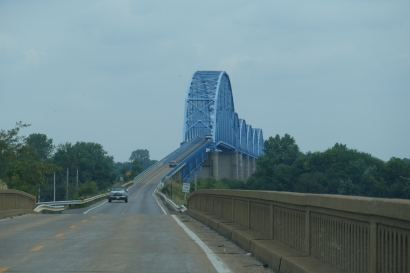 The old, narrow, grate-floored Irvin Cobb Bridge