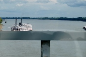 The American Queen was in port in Chester, on her way to Paducah.