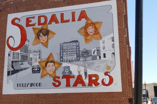 One of the murals in Sedalia -we didn't really recognize these folks