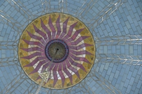 Close up of the mosaic in the dome