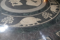 Looking down in the rotunda
