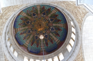 Looking up in the rotunda