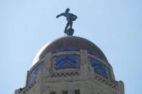 The Sower, atop the dome