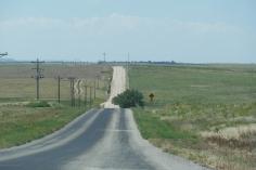 Yep, it's a gravel road...