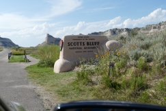 Scott's Bluff National Monument was just down the road