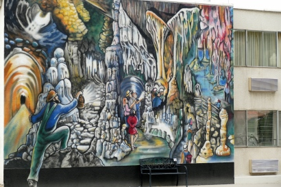 A mural about Lehman Caverns