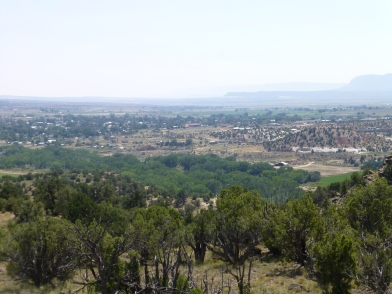 Looking down on the town of Escalante