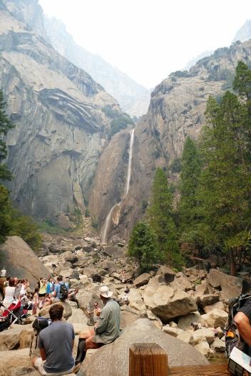 The famous Yosemite Falls