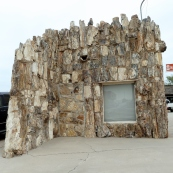 The petrified wood building